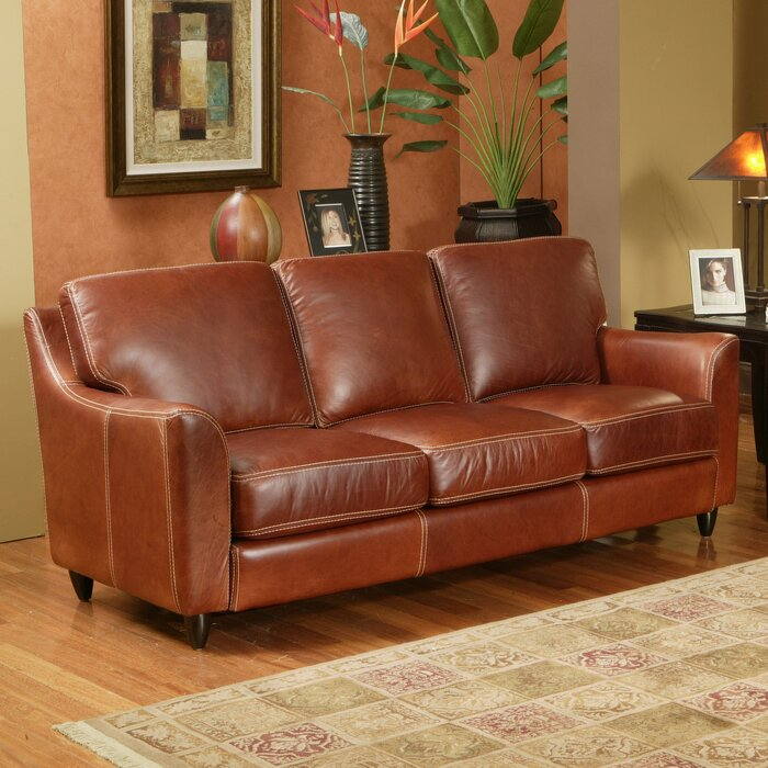 Omnia Leather Great Texas Leather Sofa