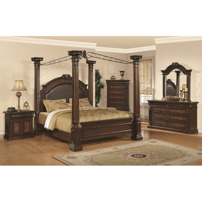 Wildon Home Juliet Four Poster Customizable Bedroom Set Reviews Wayfair
