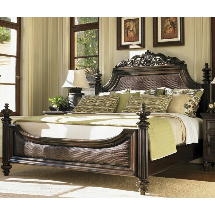 tommy bahama home royal kahala panel customizable bedroom set reviews wayfair. Black Bedroom Furniture Sets. Home Design Ideas
