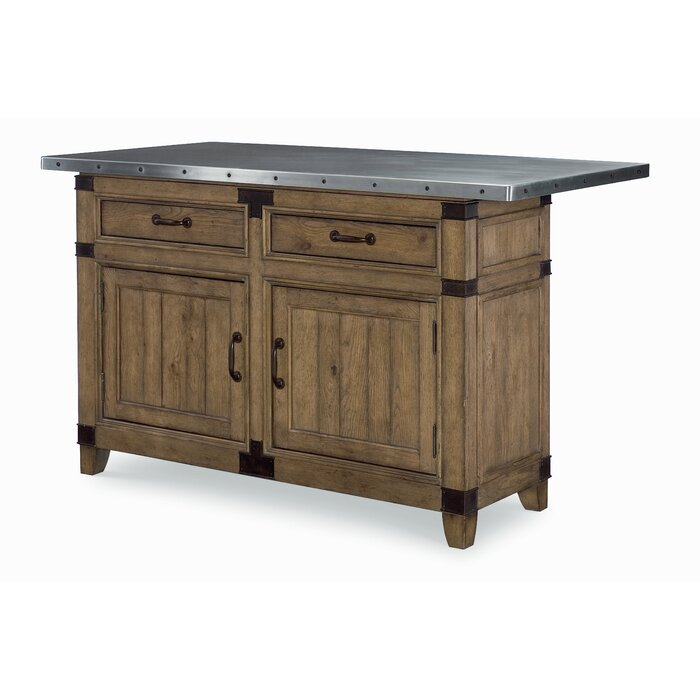 Legacy Classic Furniture Metalworks Kitchen Island With Stainless Steel Top Wayfair