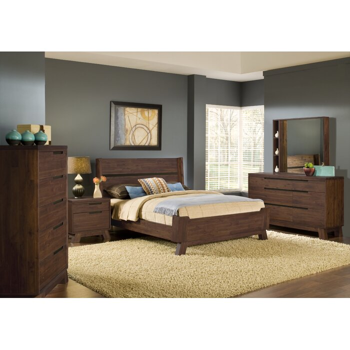 Modus Furniture Portland Platform Customizable Bedroom Set