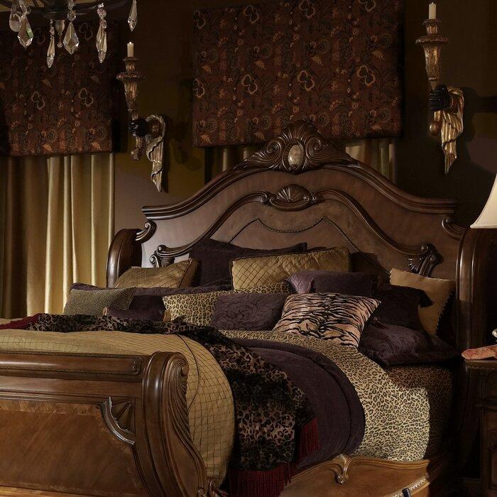 michael amini cortina sleigh bed reviews wayfair