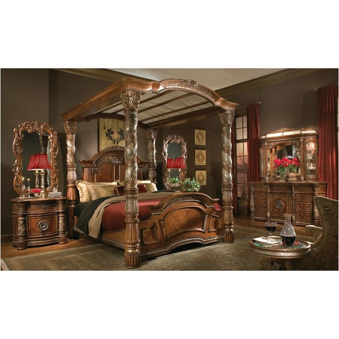 Michael Amini Villa Valencia Canopy Customizable Bedroom Set