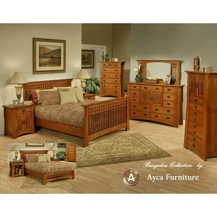 AYCA Furniture Bungalow Platform Customizable Bedroom Set