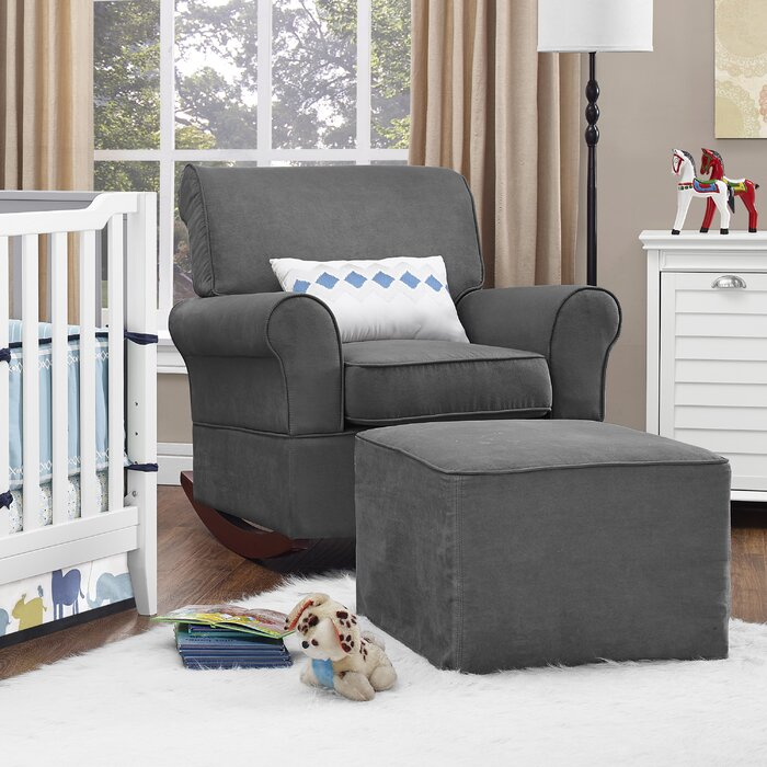 image of a living room dorel living baby relax mackenzie rocker and ottoman 23138