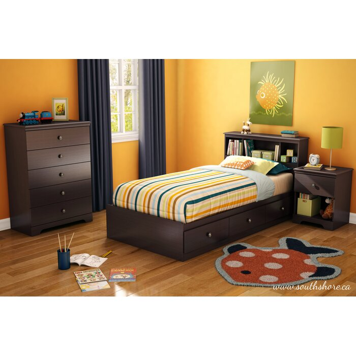 South Shore Zach Twin Platform Customizable Bedroom Set