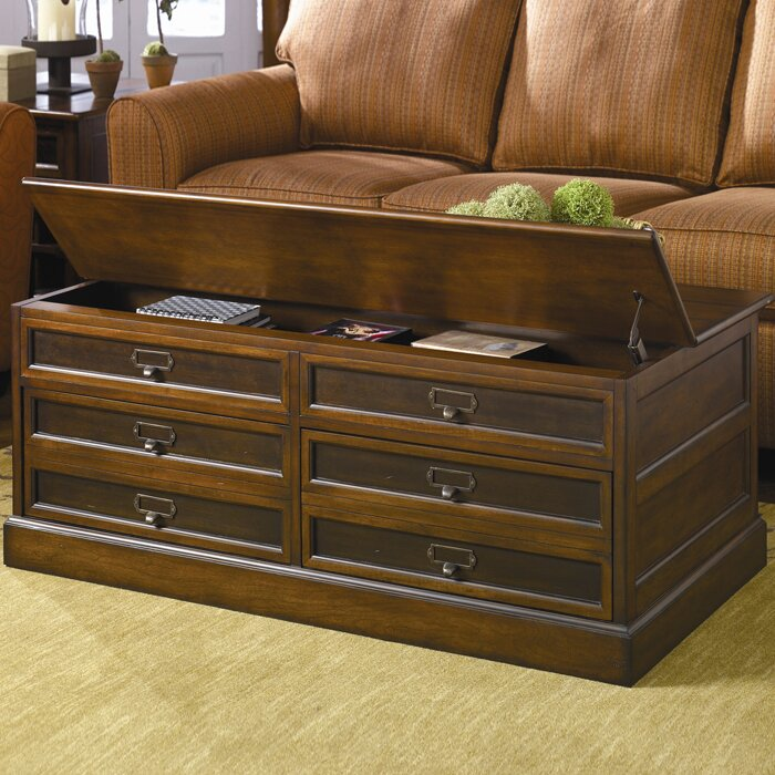 Barrett Trunk Coffee Table With Lift Top: Hammary Mercantile Storage Coffee Table Set & Reviews