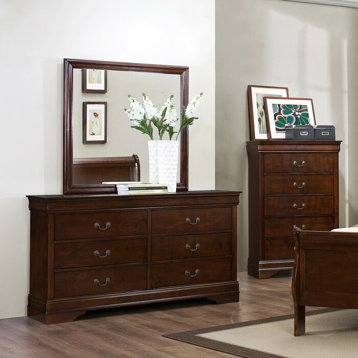 Woodhaven Hill Mayville 6 Drawer Dresser with Mirror