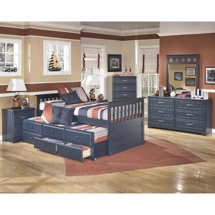 signature design by ashley leo twin slat customizable bedroom set ashley leo twin bedroom set