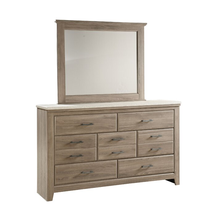 Latitude Run 7 Drawer Dresser with Mirror