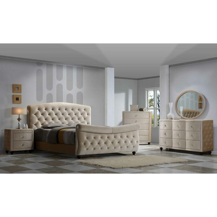 Meridian Furniture USA Diamond Sleigh Customiza..