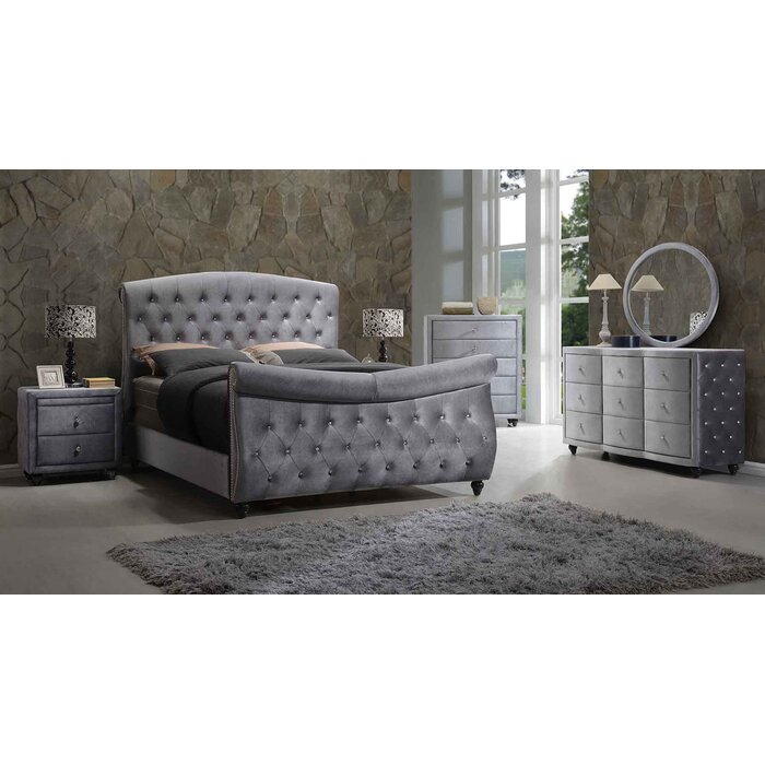 Meridian Furniture USA Hudson Panel Customizable Bedroom Set