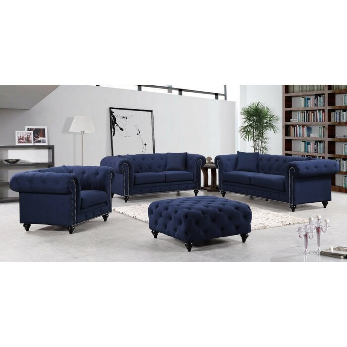 Meridian Furniture Usa Chesterfield Living Room Collection Reviews Wayfair