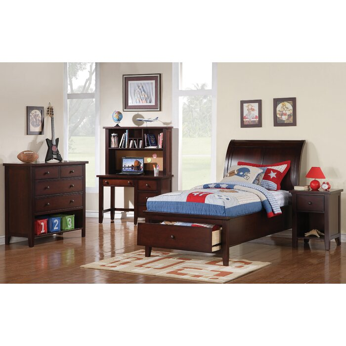 Alcott Hill Twin Sleigh Customizable Bedroom..