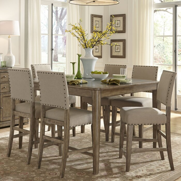 One Allium Way Saguenay 7 Piece Dining Set