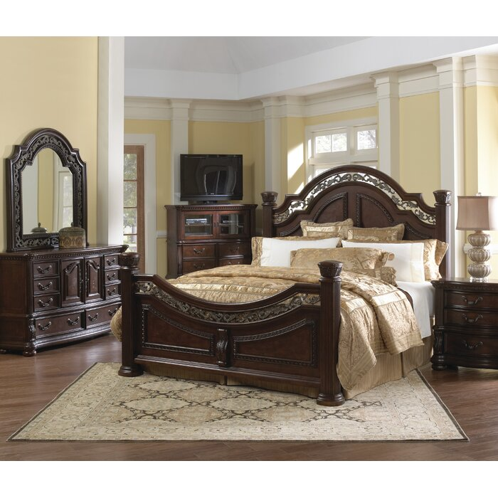 samuel lawrence san marino sleigh customizable bedroom set reviews wayfair
