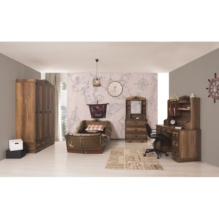 cloudseller pirate twin sleigh customizable bedroom set