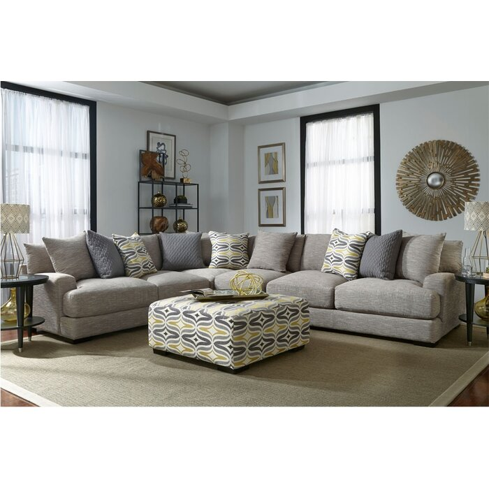Laurel foundry modern farmhouse rosemary sectional for Laurel 4 piece sectional sofa
