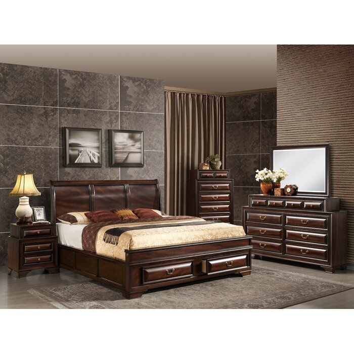 Global furniture usa sarina sleigh customizable bedroom for Bedroom furniture usa