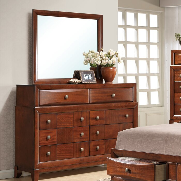 Global Furniture Usa Oasis 8 Drawer Dresser With Mirror