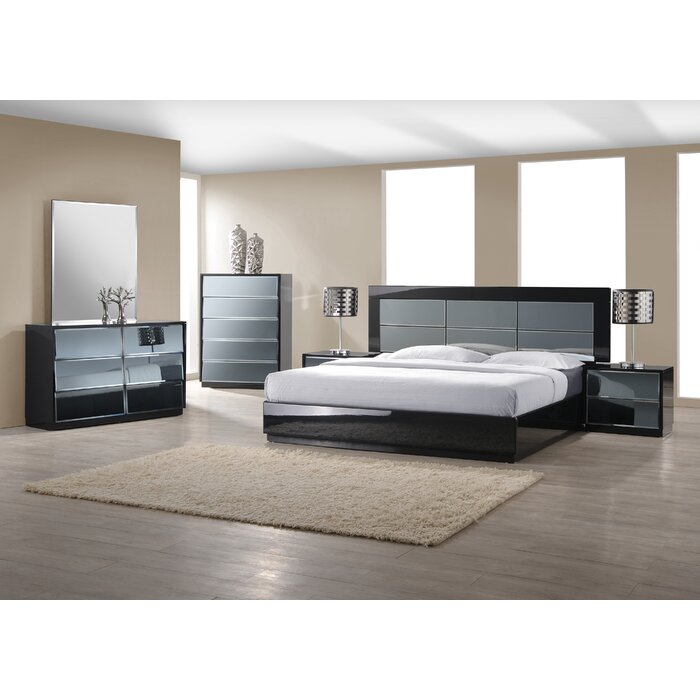 Wade Logan Yaseen Platform Customizable Bedroom Set
