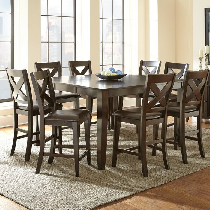 Steve Silver Furniture Crosspointe 9 Piece Dining Set