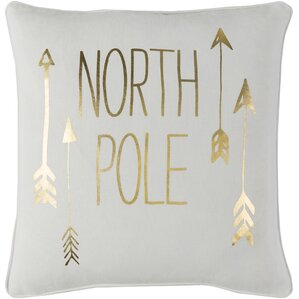 Holiday North Pole Throw Pillow