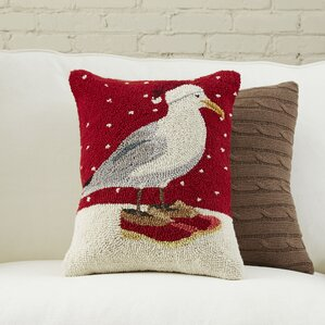 Seagull Santa Pillow