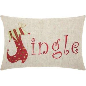 Jingle Embroidered Pillow
