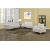 Beliani Oslo 3 Piece Leather Living Room Set Amp Reviews