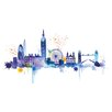 Art Group London Skyline by Summer Thornton Canvas Wall Art