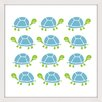 """Marmont Hill """"Turtle Stamp"""" by Shayna Pitch Framed Graphic Art"""
