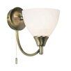 Endon Lighting Alton 1 Light Semi-Flush Wall Light