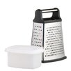 Kitchen Craft Master Class Stainless Steel Four Sided Box Grater with Collecting Box