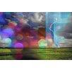 Parvez Taj Lightning Bolt Graphic Art Wrapped on Canvas