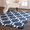Fab Rugs Nantucket Striped Black White Indoor Outdoor Area