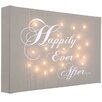 Illuminated Canvas Happily Ever After Typography on Canvas