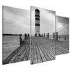 Castleton Home Lighthouse 3-Piece Photographic Print on Canvas Set