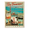 Americanflat San Francisco Multi Print Vintage Advertisement