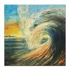 Artist Lane Last Wave by Jennifer Webb Art Print Wrapped on Canvas
