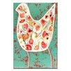 Artist Lane Flower Bird by Anna Blatman Art Print Wrapped on Canvas