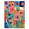Artist Lane Palette Poppies 2 by Anna Blatman Art Print on Canvas