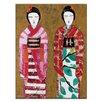 Artist Lane Spring Geisha 2 by Anna Blatman Art Print on Canvas
