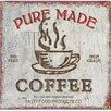 Château Chic Pure Made Coffee Vintage Advertisement Plaque