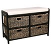 House Additions Wood Storage Entryway Bench