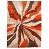 House Additions Infinite Orange Area Rug