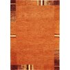 Theko Everest Hand-Knotted Orange Area Rug