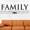 Cut It Out Wall Stickers Family the Most Important Thing in the World Wall Sticker