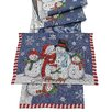 The Seasonal Aisle Snow Family Table Runner