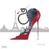 DEInternationalGraphics With Paris Sky Line by Marilyn Robertson Painting Print